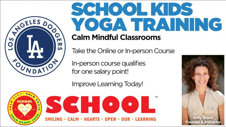 School Kids Yoga Training Dodger Ad
